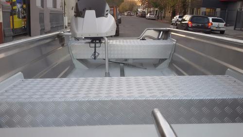 lancha smartliner 170 aluminio naval soldado