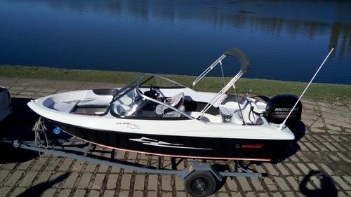 lancha sport 490 open c/ mercury 50 4t náutica del plata