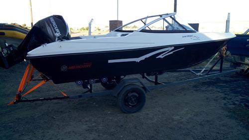 lancha sport 490 open mercury 60 4t 0 hs náutica del plata