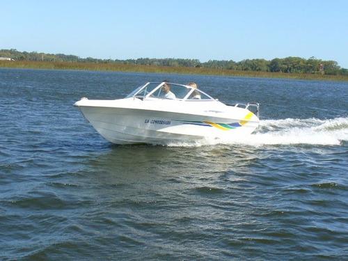 lancha sportfish 4.60 con 60 hp mercury