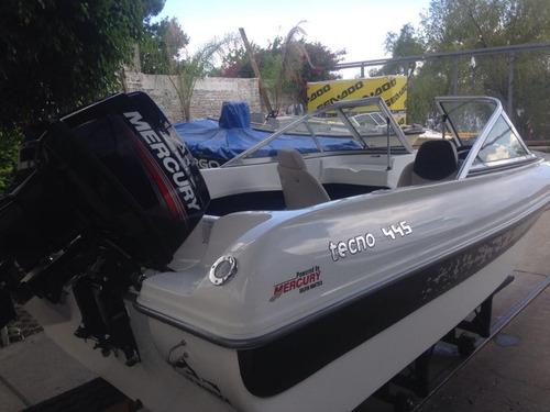 lancha tecno 445 con mercury 40 hp nueva 2019