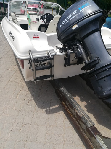 lancha tecno 445 open con powertec 40 hp arranque electrico