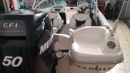 lancha tecno 470 con mercury 50 hp 4 tiempos