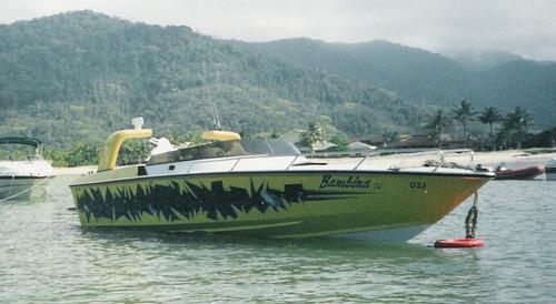 lancha tiger intermarine 27 pés-pintura personalizada-diesel