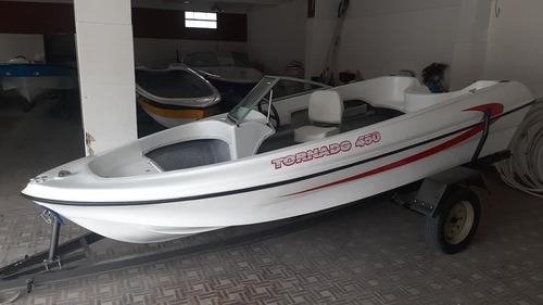 lancha tornado 450 pescadora $207000 y $238500 sin trailer