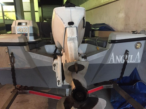 lancha tracker 490 con motor jhonson 40hp 2t usada