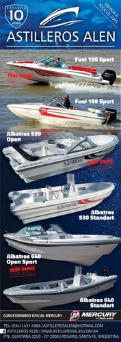 lancha tracker albatros 530, 10 años de garantia, financio