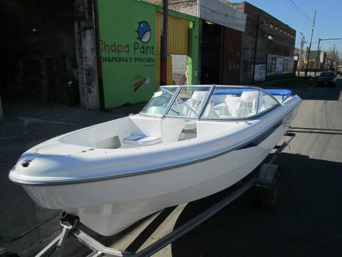 lancha tracker albatros 530 open c/mercury 60 hp full 2018