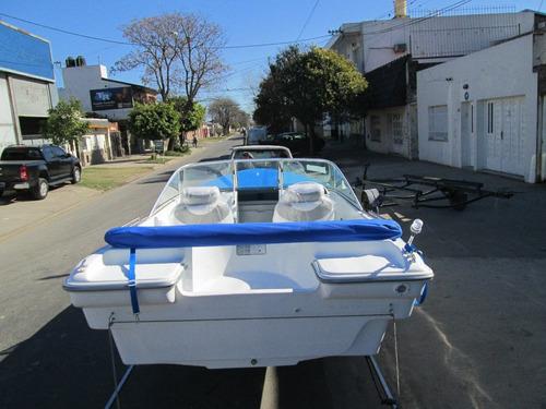 lancha tracker albatros 530 open c/mercury 60 hp full