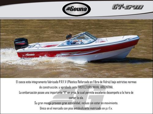 lancha tracker geuna gt 540 con evinrude 90 2t nueva