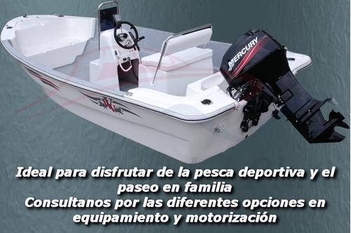 lancha tracker pescador equipada motor mercury 40 hp cero hs