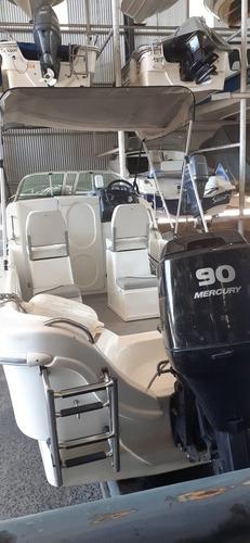 lancha tracker tiburón xxi 640 con mercury 90 hp 2 tiempos