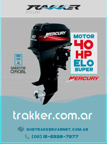 lancha tracker trakker 520 open + mercury 40 hp + inst