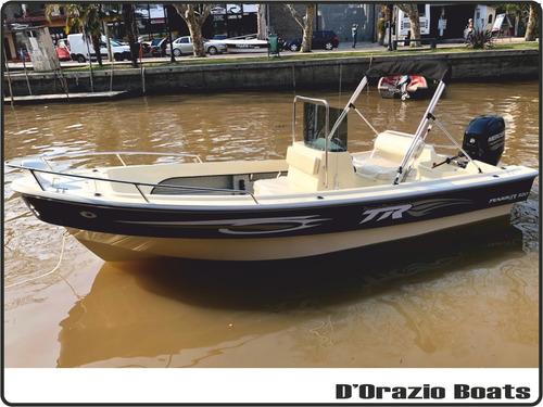 lancha tracker trakker 520 pescador + mercury 60 hp 4t efi