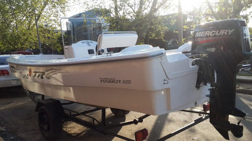 lancha tracker trakker 625 pescador + mercury 60 hp 2t full