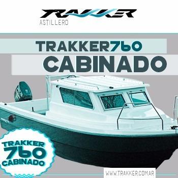 lancha tracker trakker 760 cabinado