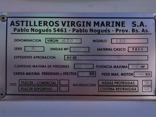 lancha tracker virgin marine 4,90