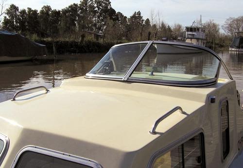 lancha traker 6.20 cabinado casco nuevo solo. finacio