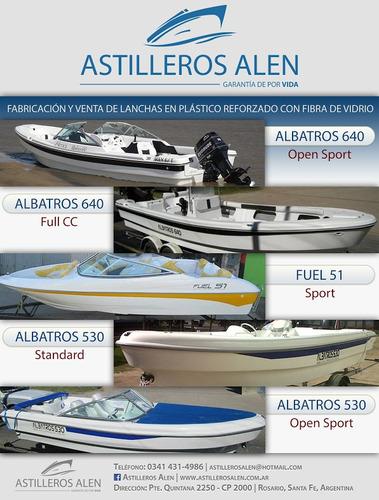 lancha traker albatros 530 open matrizada 2018 financio