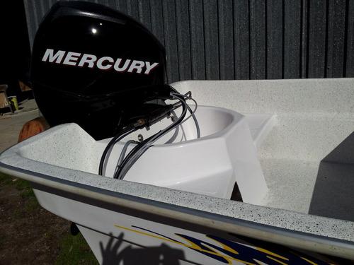 lancha   travessia 5.20.  con mercury 40 hp