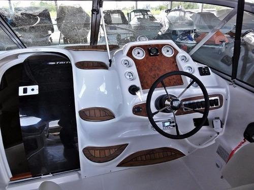 lancha triton 300 + 6.2 300 hp bravo3 - ñ real focker coral