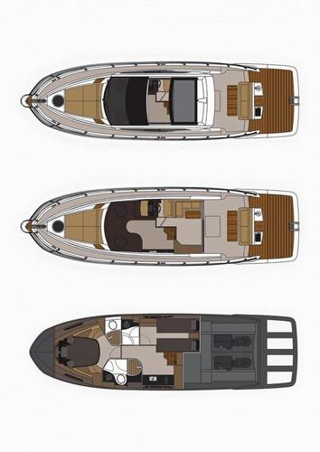 lancha triton 440 ht 02 x d4 300 - duo prop - diesel - 300hp