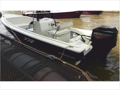 lancha trucker trakker 520 pescador c/mercury 40 hp 3 cil 2t