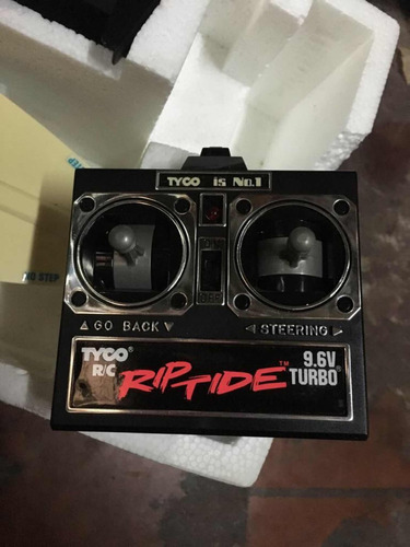 lancha tyco 9.6v turbo con control remoto