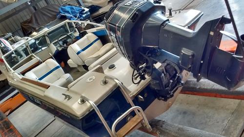 lancha usada bermuda caribbean motor evinrude 115 hp