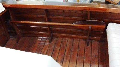lancha usada de coleccion claude madera cedro barnizado