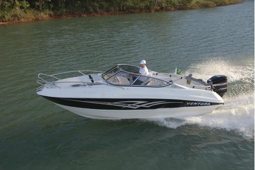 lancha ventura 215 comfort mercury 115 hp (0km) cabinada