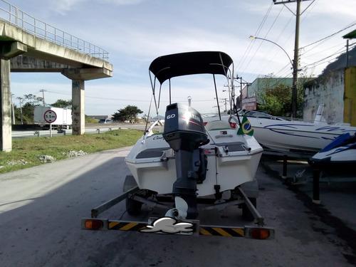 lancha ventura v160 yamaha 60 hp com carreta rodoviária