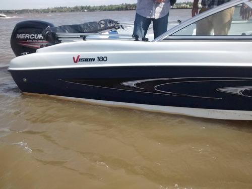 lancha vision 180 sport con mercury 90 2t precio lanzamiento