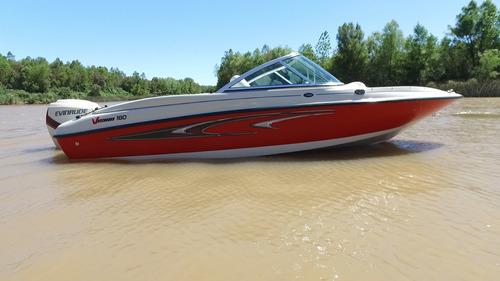 lancha vision 180 sport - nueva -  excelente con etec 115 hp