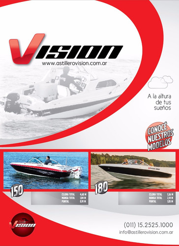 lancha  vision 185 + mercruiser 135 hp  ¡¡hasta en 60 cuotas