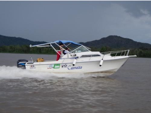 lancha wellcraft 25 pies, 2 motores mercury 200hp y trailer