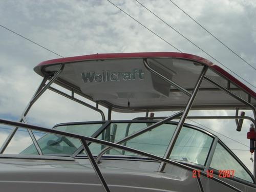 lancha wellcraft 275wa + 225hp optimax + montagem básica