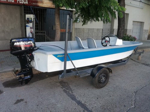 lancha yacaré 480 con motor mercury 30 hp y trailer
