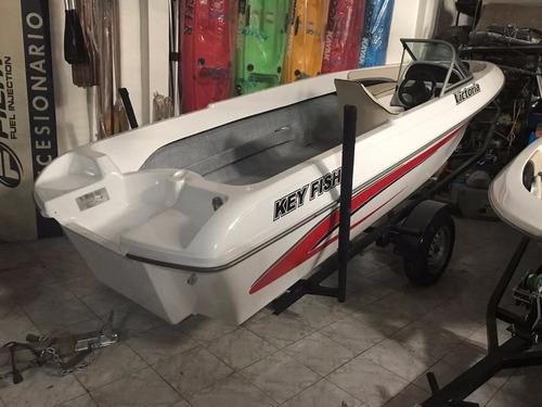 lanchas key fish con mercury 60 hp 4t + trailer