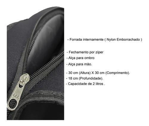 lancheira bolsa térmica neoprene - diversas estampas