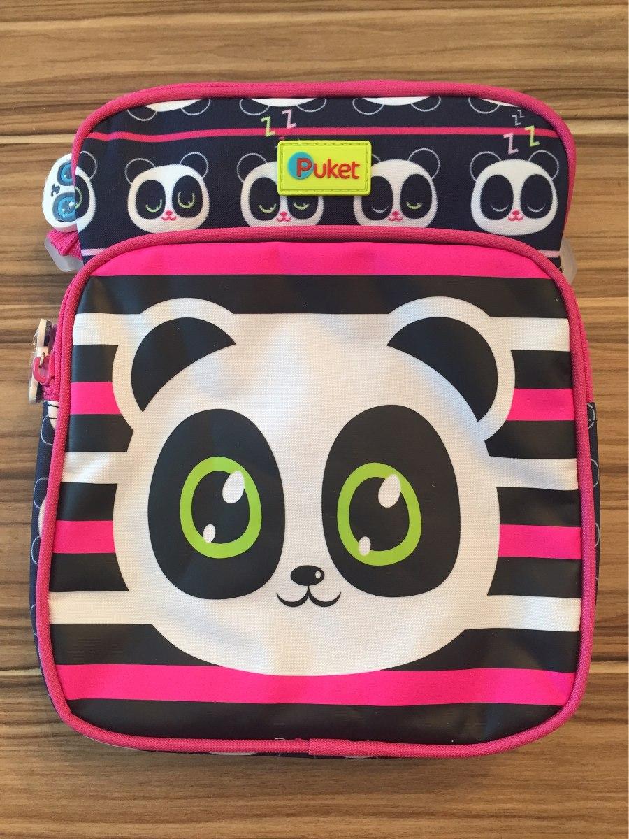 51426630ba4a09 Lancheira / Bolsa Termica Sem Gel Panda - Puket