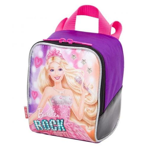 lancheira escolar barbie rock n royals roxo 064350-48 sestin