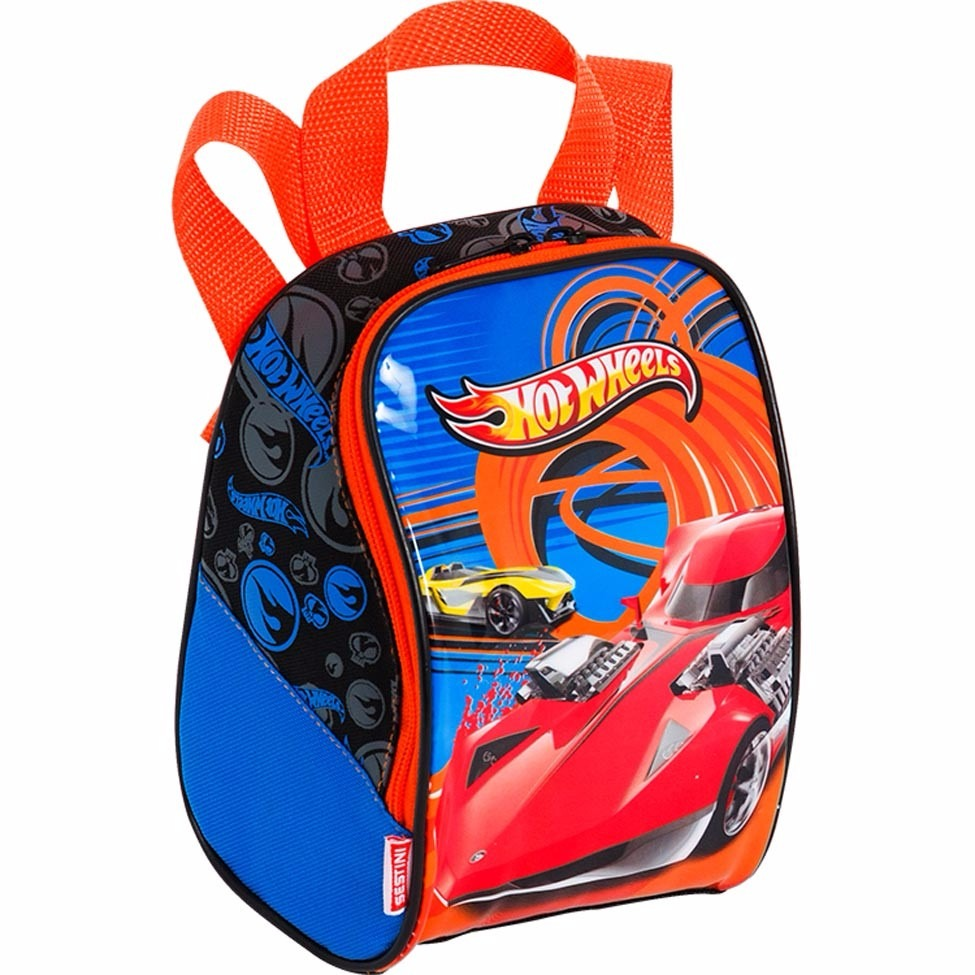 d59c34abf lancheira hot wheels azul e laranja sestini. Carregando zoom.