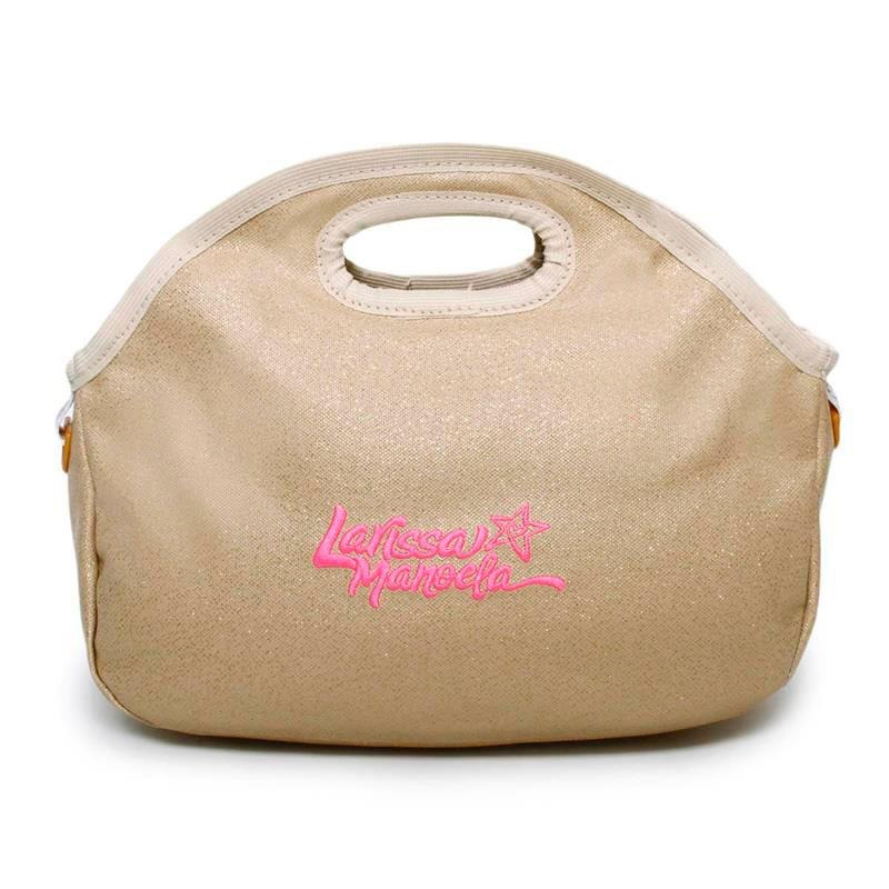 Lancheira Larissa Manoela Glitter Dourada - R  29,90 em Mercado Livre 21ff32cbd8