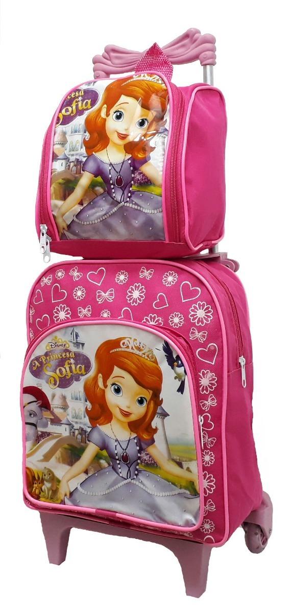 e8c474a693 lancheira sofia rodinhas mochila escolar feminina linda. Carregando zoom.