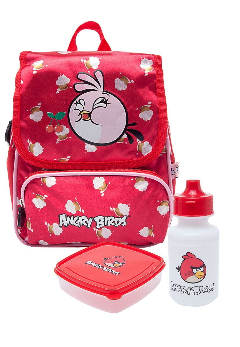 d23324dbd Lancheira Térmica Completa (pote + Squeeze) Angry Birds Red - R$ 79 ...