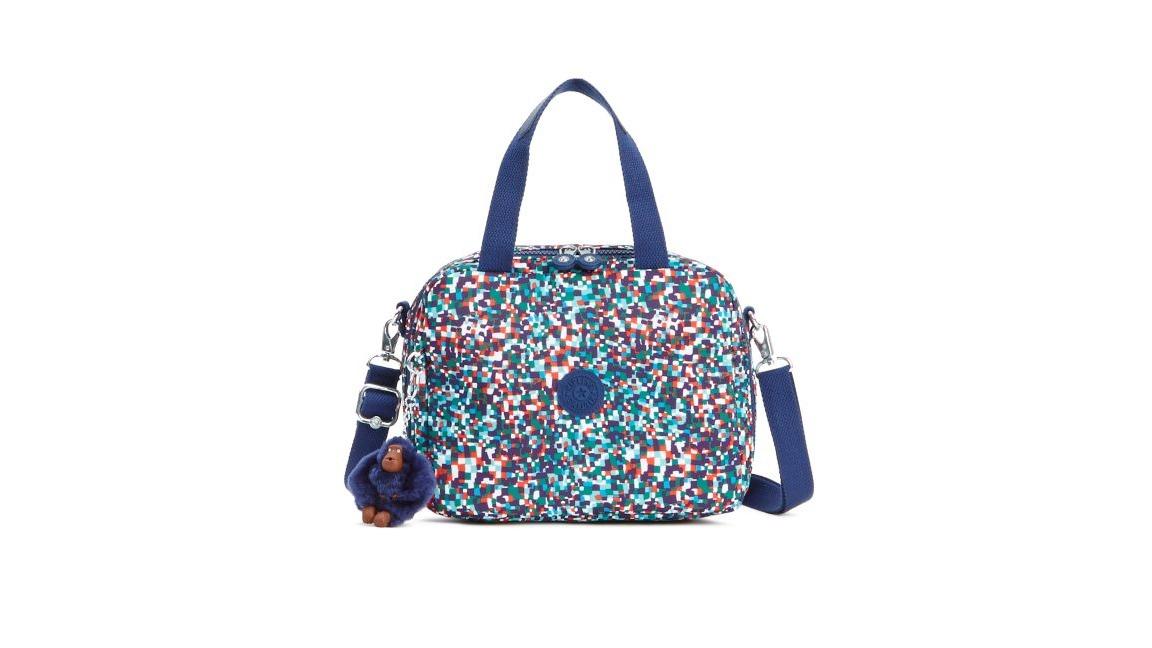 e1f1a4de3 lancheira térmica kipling miyo lunchbag estampada azul. Carregando zoom.