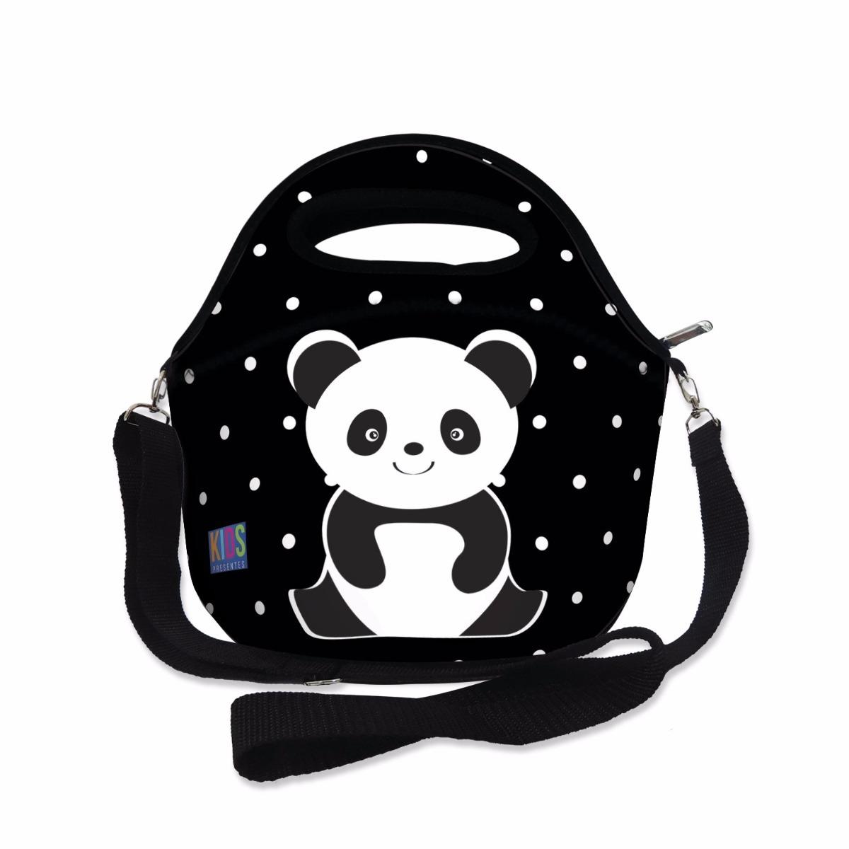 aef16fa68 Lancheira Térmica Neoprene Infantil Panda - R$ 25,90 em Mercado Livre