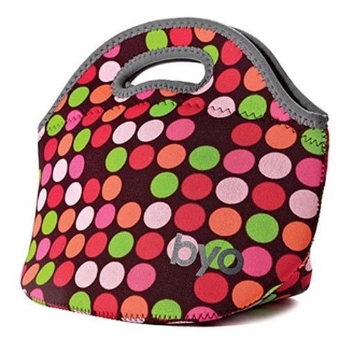 lancheira térmica rambler lunch bag pop dot byo