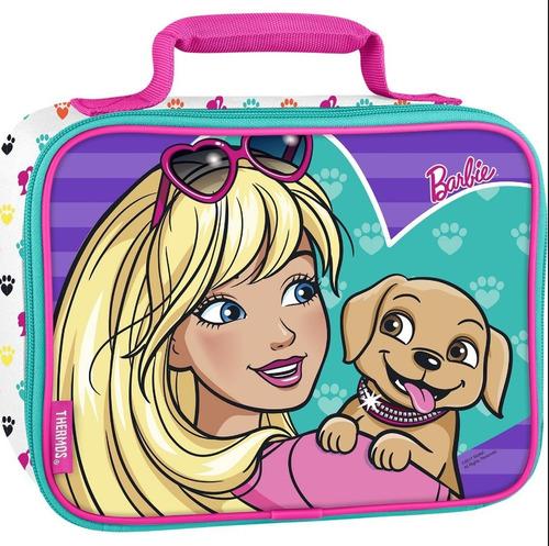 lancheira térmica thermos barbie - original - p. entrega